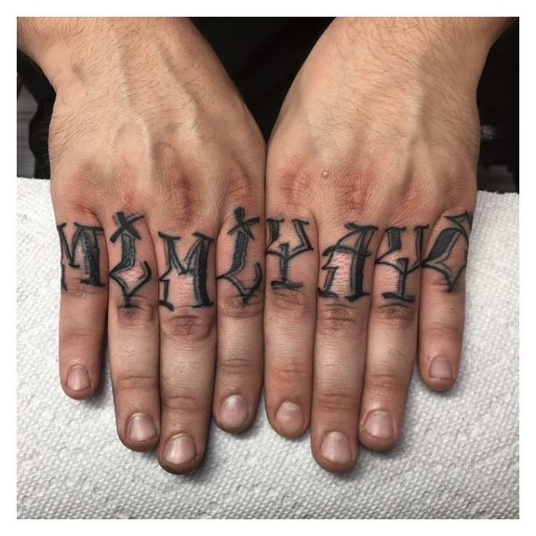 Hands  Personalized Lettering Tattoos