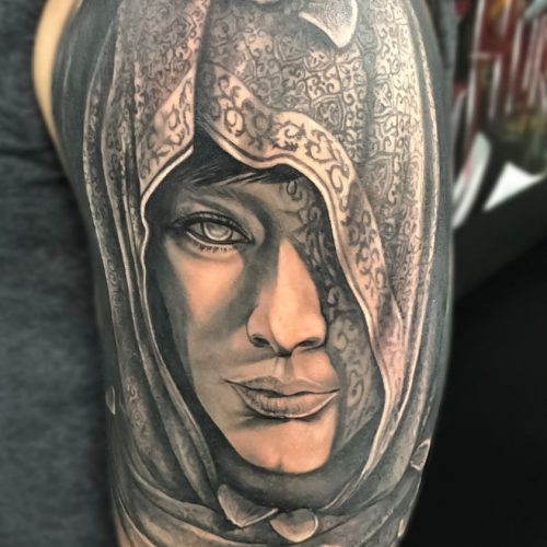 Black and Grey Realism Tattoos
